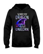 Sorry My Dragon Ate Your Unicorn Hooded Sweatshirt front