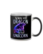 Sorry My Dragon Ate Your Unicorn Color Changing Mug thumbnail