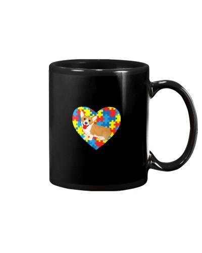 Heart Autism Corgi Cute Autism Awareness Valentine