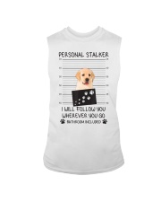Funny Dog Lover Gift Personal Stalker Labrador T S Sleeveless Tee thumbnail