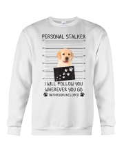 Funny Dog Lover Gift Personal Stalker Labrador T S Crewneck Sweatshirt thumbnail