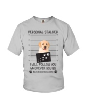 Funny Dog Lover Gift Personal Stalker Labrador T S Youth T-Shirt thumbnail