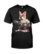 Muscle French Bulldog Working Out At The Gym T Shi Classic T-Shirt front