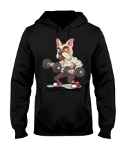 Muscle French Bulldog Working Out At The Gym T Shi Hooded Sweatshirt thumbnail
