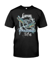 Livin That Meemaw Life Dragonfly Art Funny Meemaw  Classic T-Shirt front