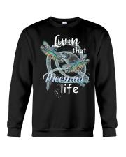 Livin That Meemaw Life Dragonfly Art Funny Meemaw  Crewneck Sweatshirt thumbnail