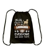 Funny Labrador Shirt - You Must Love My Labrador Drawstring Bag thumbnail