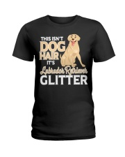 It is Labrador Retriever Glitter Ladies T-Shirt front