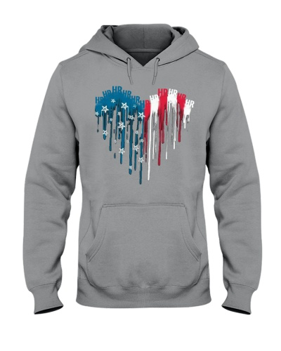 Love HR American Flag 4th Of July Independence Day