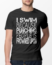 SWIMMING BECAUSE PUNCHING Classic T-Shirt lifestyle-mens-crewneck-front-13