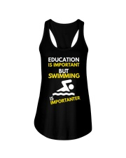 SWIMMING OR EDUCATION Ladies Flowy Tank thumbnail
