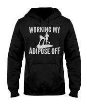 GYM WORKING MY ADIPOSE OFF Hooded Sweatshirt thumbnail