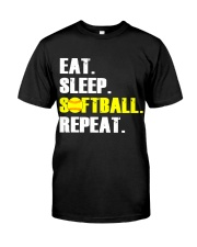 Eat Sleep Softball Repeat  Classic T-Shirt thumbnail