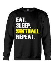 Eat Sleep Softball Repeat  Crewneck Sweatshirt thumbnail