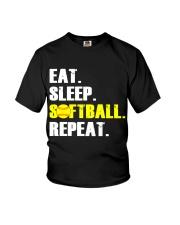 Eat Sleep Softball Repeat  Youth T-Shirt thumbnail