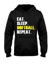 Eat Sleep Softball Repeat  Hooded Sweatshirt thumbnail