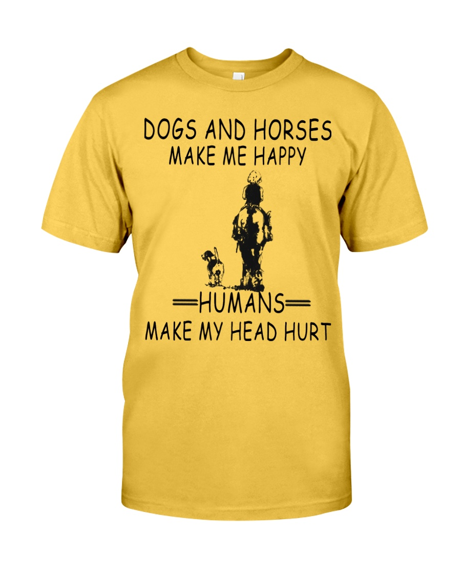 DOGS AND HORSE MAKE ME HAPPY Classic T-Shirt