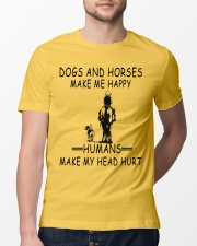 DOGS AND HORSE MAKE ME HAPPY Classic T-Shirt lifestyle-mens-crewneck-front-13