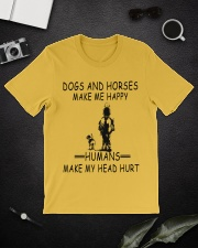 DOGS AND HORSE MAKE ME HAPPY Classic T-Shirt lifestyle-mens-crewneck-front-16