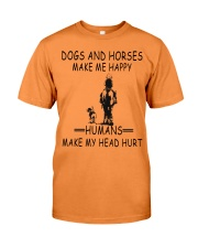 DOGS AND HORSE MAKE ME HAPPY Premium Fit Mens Tee thumbnail