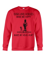 DOGS AND HORSE MAKE ME HAPPY Crewneck Sweatshirt thumbnail