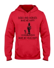 DOGS AND HORSE MAKE ME HAPPY Hooded Sweatshirt thumbnail