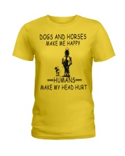 DOGS AND HORSE MAKE ME HAPPY Ladies T-Shirt thumbnail