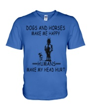 DOGS AND HORSE MAKE ME HAPPY V-Neck T-Shirt thumbnail