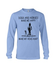 DOGS AND HORSE MAKE ME HAPPY Long Sleeve Tee thumbnail
