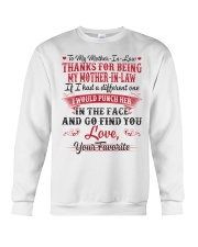 THANKS FOR BEING MY MOTHER-IN-LAW Crewneck Sweatshirt thumbnail