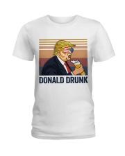US DRINK DONALD DRUNK Ladies T-Shirt thumbnail