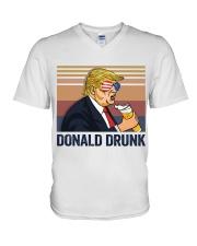 US DRINK DONALD DRUNK V-Neck T-Shirt thumbnail