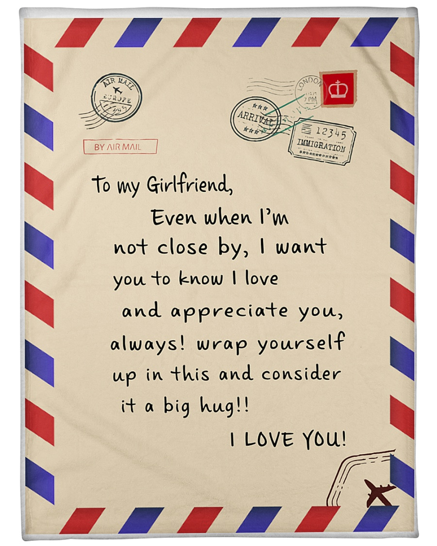 "To my girlfriend blanket Large Fleece Blanket - 60"" x 80"""