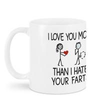 I Love You More Mug Mug back