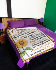 "To My Daughter Sunflower BFG-BLK309 Large Fleece Blanket - 60"" x 80"" aos-coral-fleece-blanket-60x80-lifestyle-front-01"