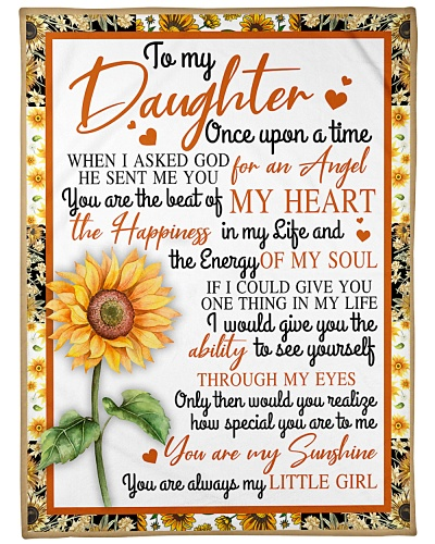 To My Daughter Sunflower BFG-BLK309