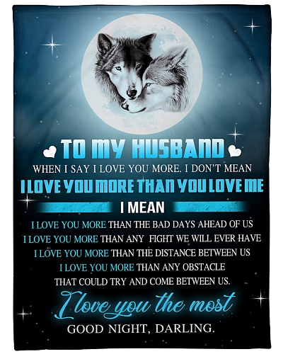 to my husband wolf BFG-BLK333