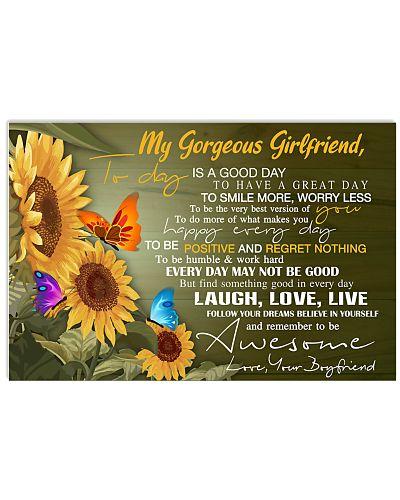 My Gorgeous girlfriend sunflower poster
