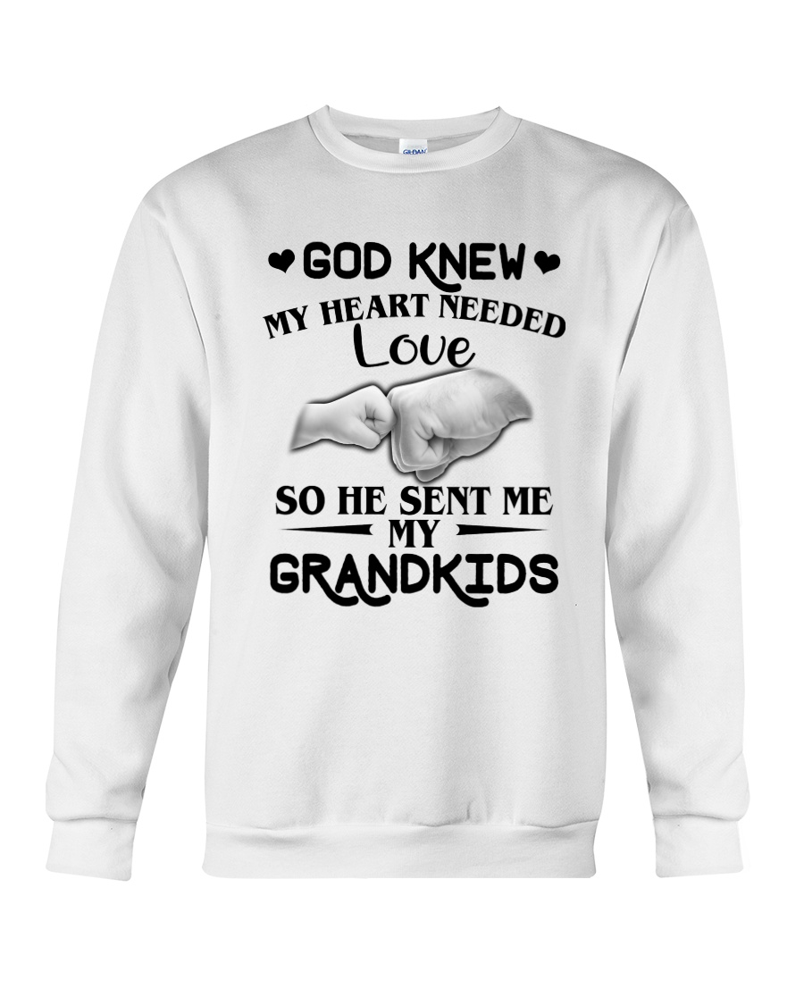 God Sent Me My Grandkids Crewneck Sweatshirt