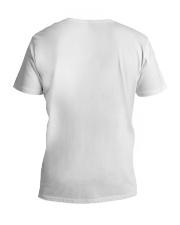 God Sent Me My Grandkids V-Neck T-Shirt back