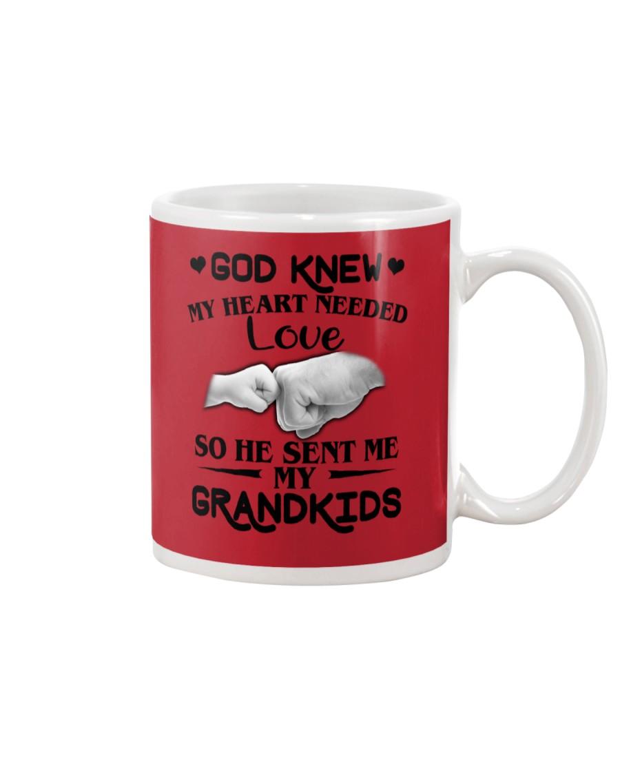 God Sent Me My Grandkids Mug