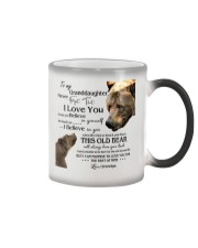 1 DAY LEFT - TO MY GRANDDAUGHTER FROM GRANDPA BEAR Color Changing Mug thumbnail
