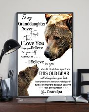1 DAY LEFT - TO MY GRANDDAUGHTER FROM GRANDPA BEAR 16x24 Poster lifestyle-poster-2