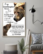 1 DAY LEFT - TO MY GRANDDAUGHTER FROM GRANDPA BEAR 24x36 Poster lifestyle-poster-1