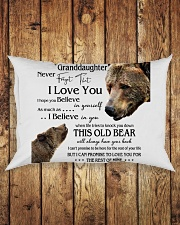 1 DAY LEFT - TO MY GRANDDAUGHTER FROM GRANDPA BEAR Rectangular Pillowcase aos-pillow-rectangle-front-lifestyle-2