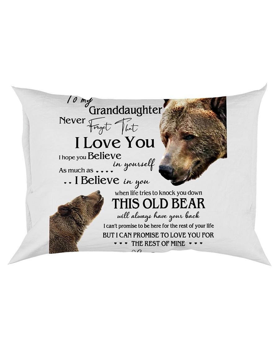 1 DAY LEFT - TO MY GRANDDAUGHTER FROM GRANDPA BEAR Rectangular Pillowcase
