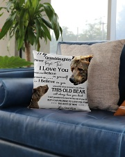 1 DAY LEFT - TO MY GRANDDAUGHTER FROM GRANDPA BEAR Square Pillowcase aos-pillow-square-front-lifestyle-02