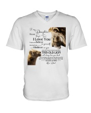 1 DAY LEFT - GET YOURS NOW TO MY DAUGHTER LIONS V-Neck T-Shirt thumbnail