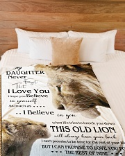 """1 DAY LEFT - GET YOURS NOW TO MY DAUGHTER LIONS Large Fleece Blanket - 60"""" x 80"""" aos-coral-fleece-blanket-60x80-lifestyle-front-02"""