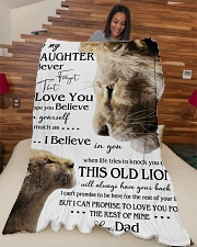 """1 DAY LEFT - GET YOURS NOW TO MY DAUGHTER LIONS Large Fleece Blanket - 60"""" x 80"""" aos-coral-fleece-blanket-60x80-lifestyle-front-04"""